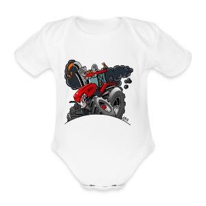 TRACTOR - Baby bio-rompertje met korte mouwen