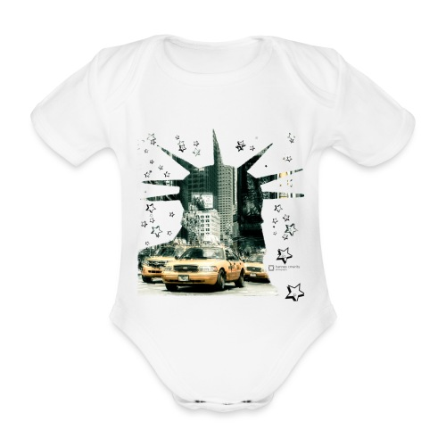 NYC - Lady liberty and the yellow cabs - Baby Bio-Kurzarm-Body