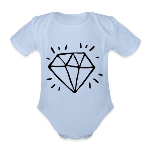diamant - Body Bébé bio manches courtes
