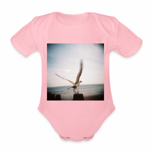 Original Artist design * Seagull - Organic Short-sleeved Baby Bodysuit