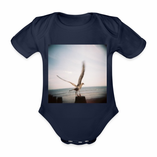 Original Artist design * Seagull - Organic Short-sleeved Baby Bodysuit