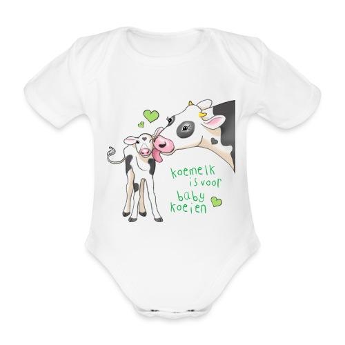 koemelk is voor baby koeien - Organic Short-sleeved Baby Bodysuit