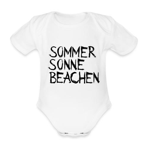 Sommer Sonne Beachen - Baby Bio-Kurzarm-Body