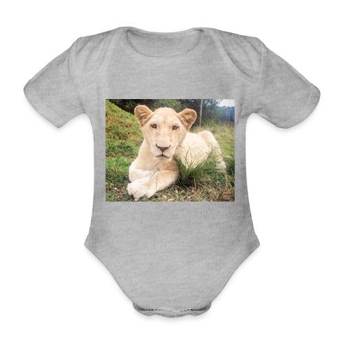 10536 2Cmoomba groot - Organic Short-sleeved Baby Bodysuit