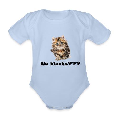 No block kitten - Økologisk kortermet baby-body