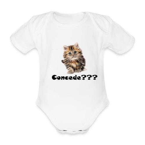 Concede kitty - Økologisk kortermet baby-body