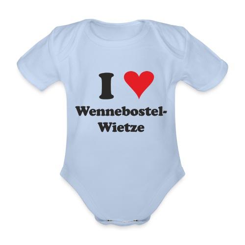 I Love Wennebostel-Wietze - Baby Bio-Kurzarm-Body
