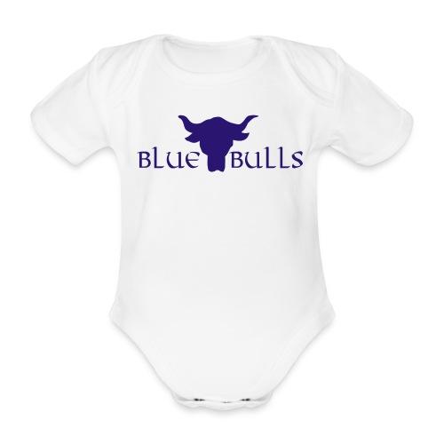 blue bull logo blau - Baby Bio-Kurzarm-Body