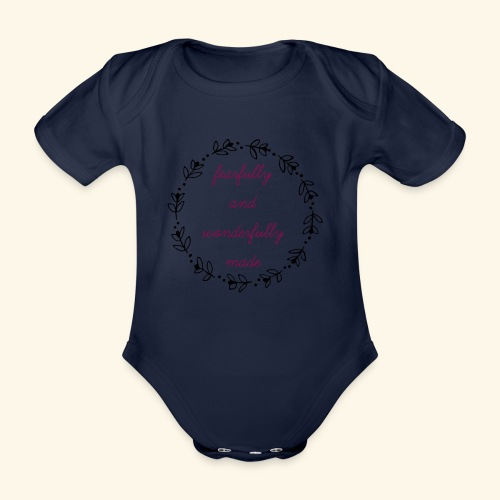 fearfully made large - Organic Short-sleeved Baby Bodysuit
