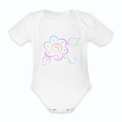 Tonalidades de en flor - Body orgánico de maga corta para bebé