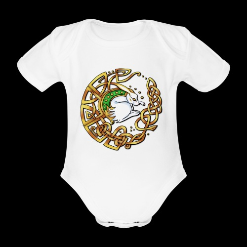 Celtic Hare - Organic Short-sleeved Baby Bodysuit