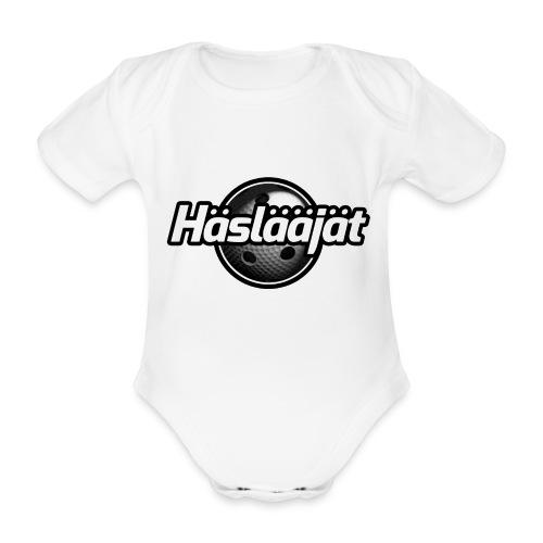 Hählääjät salibandy logo valkoinen - Vauvan lyhythihainen luomu-body