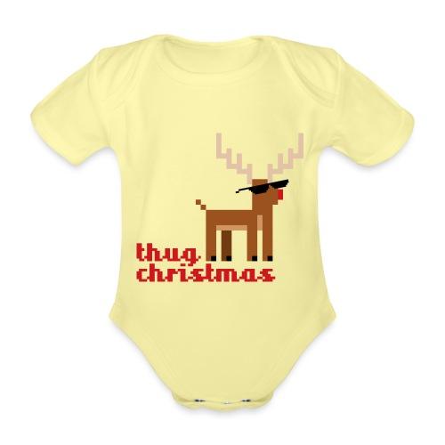 Rudolph the Red Nosed Reindeer Pixel - Organic Short-sleeved Baby Bodysuit