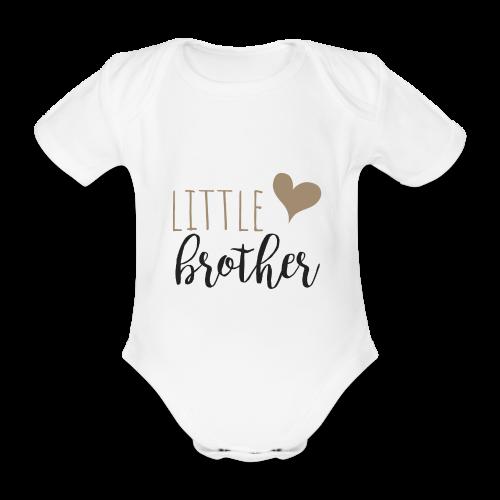 little brother Familyshirt - Baby Bio-Kurzarm-Body