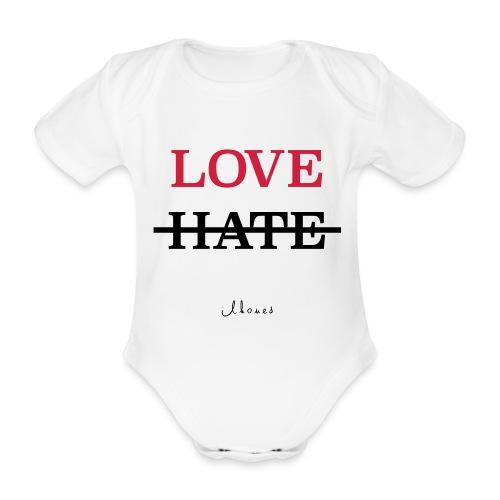 LOVE NOT HATE - Organic Short-sleeved Baby Bodysuit
