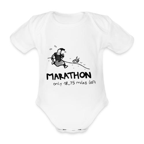 marathon-png - Ekologiczne body niemowlęce z krótkim rękawem