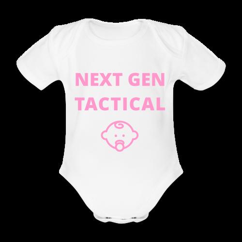 Tactical Baby Girl - Baby bio-rompertje met korte mouwen