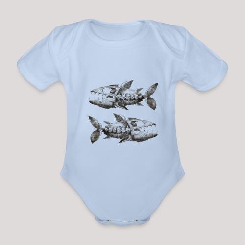 FishEtching - Organic Short-sleeved Baby Bodysuit