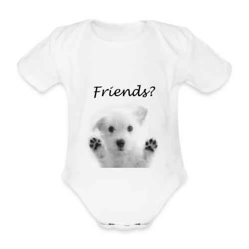 puppyfriends - Baby bio-rompertje met korte mouwen