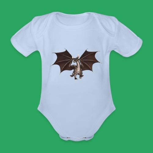 dragon logo color - Body ecologico per neonato a manica corta