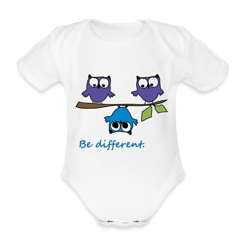 Vogel auf Ast - Be different - Baby Bio-Kurzarm-Body