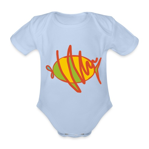 fish - Baby Bio-Kurzarm-Body