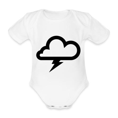 Wolke mit Blitz - Baby Bio-Kurzarm-Body