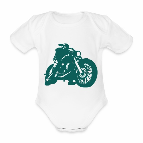 born to ride - Organic Short-sleeved Baby Bodysuit