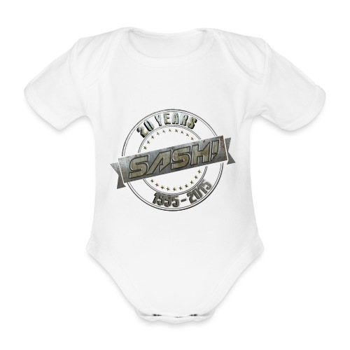 SASH! *** 20 Years *** - Organic Short-sleeved Baby Bodysuit