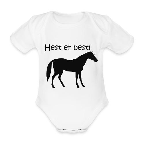 hest er best - Økologisk kortermet baby-body