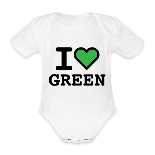 i-love-green-2.png - Body ecologico per neonato a manica corta