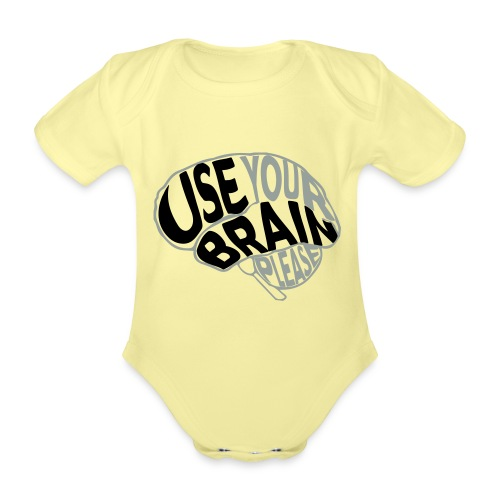 Use your brain - Body ecologico per neonato a manica corta
