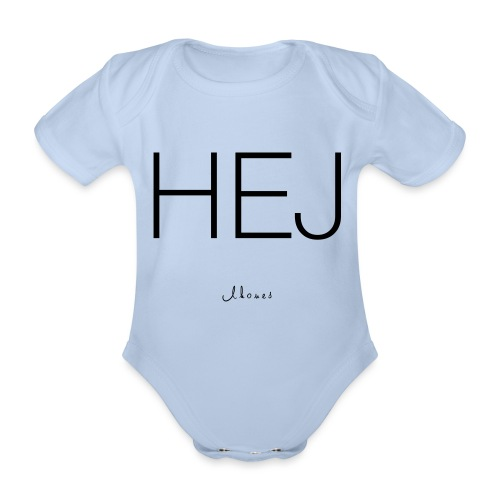 Hello - Organic Short-sleeved Baby Bodysuit