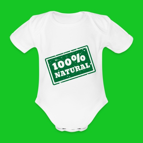100% natural PNG - Baby bio-rompertje met korte mouwen