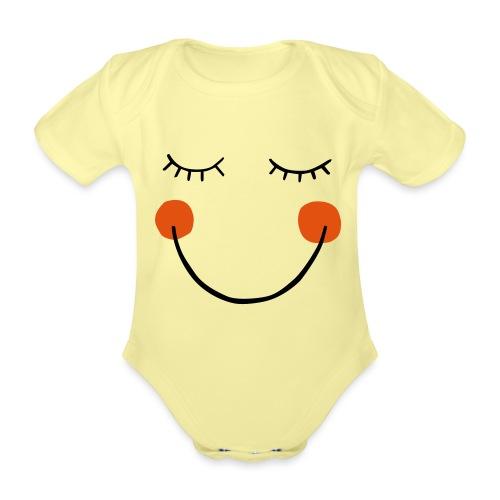Smile - Baby Bio-Kurzarm-Body