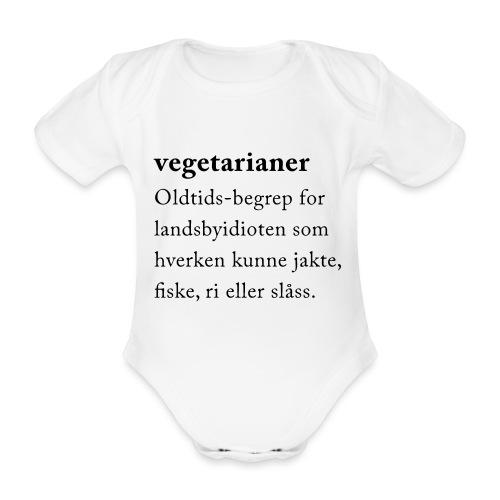 Vegetarianer definisjon - Økologisk kortermet baby-body
