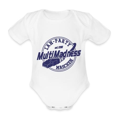 MMM Logo - modern weiß - Baby Bio-Kurzarm-Body