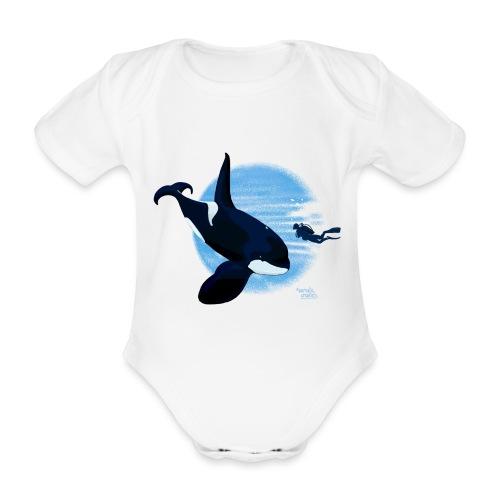 Orca en dappere duiker - Body Bébé bio manches courtes
