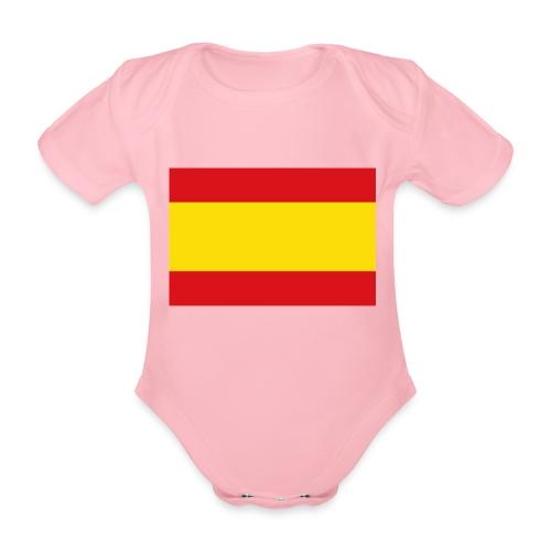 vlag van spanje - Baby bio-rompertje met korte mouwen