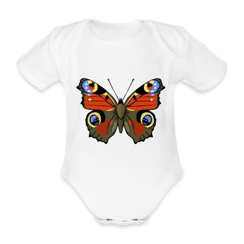 vlinder1_d - Baby bio-rompertje met korte mouwen