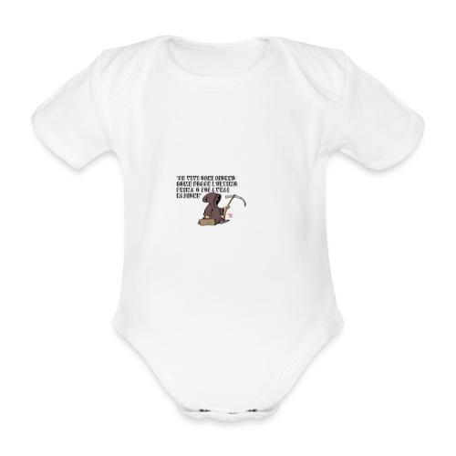 Comicità - Body ecologico per neonato a manica corta