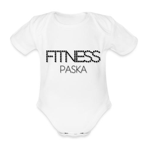 FITNESS PASKA - Vauvan lyhythihainen luomu-body