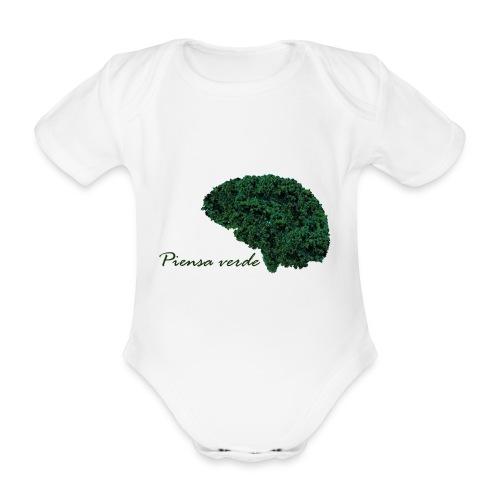 Piensa verde - Body orgánico de maga corta para bebé