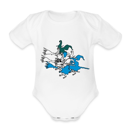 Witches on broomsticks Men's T-Shirt - Organic Short-sleeved Baby Bodysuit