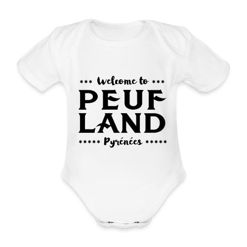Peuf Land Pyrénées - Black - Body Bébé bio manches courtes