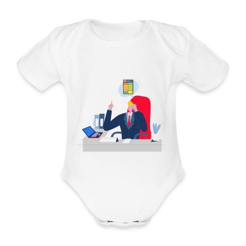 Jefe - Body orgánico de manga corta para bebé