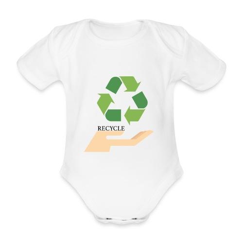 Reciclaje - Body orgánico de manga corta para bebé