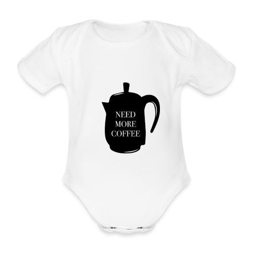 Necesito más café - Body orgánico de manga corta para bebé