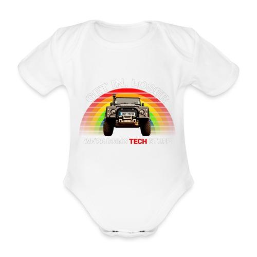 We're Doing Tech Stuff - Organic Short-sleeved Baby Bodysuit
