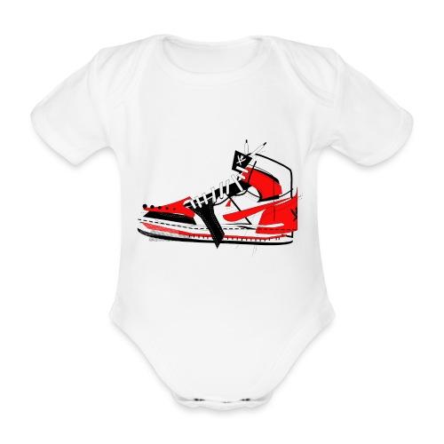 Destrukt my Shoes by MiZAl Touch Concept - Ekologiczne body niemowlęce z krótkim rękawem